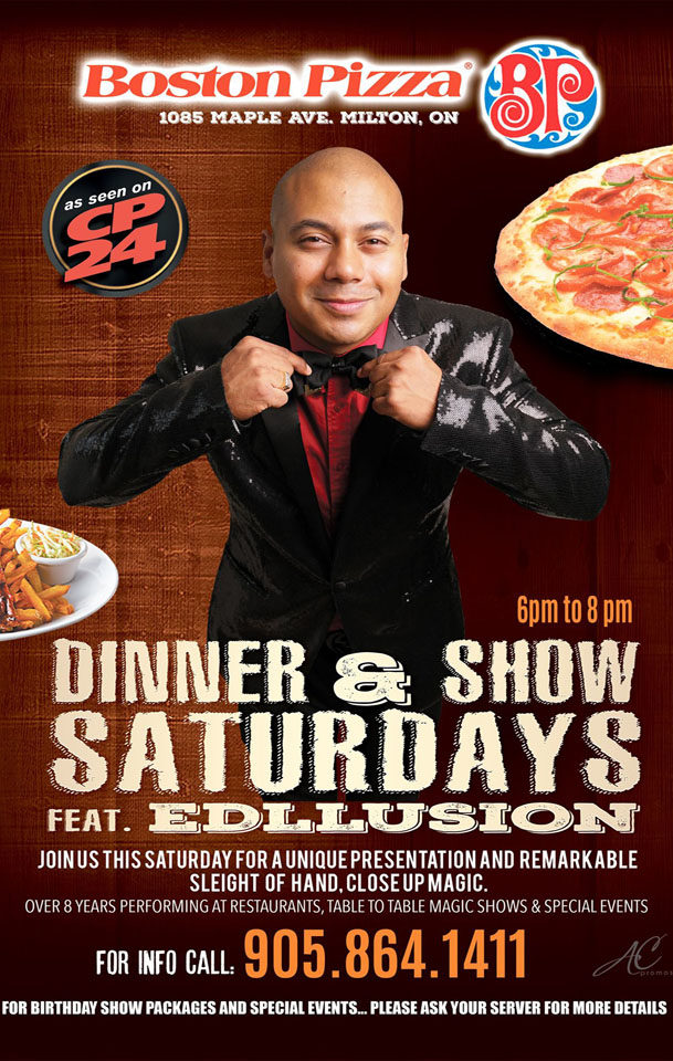DINNER AND SHOW SATURDAYS