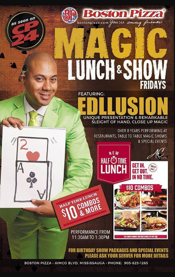 MAGIC LUNCH AND SHOW FRIDAY