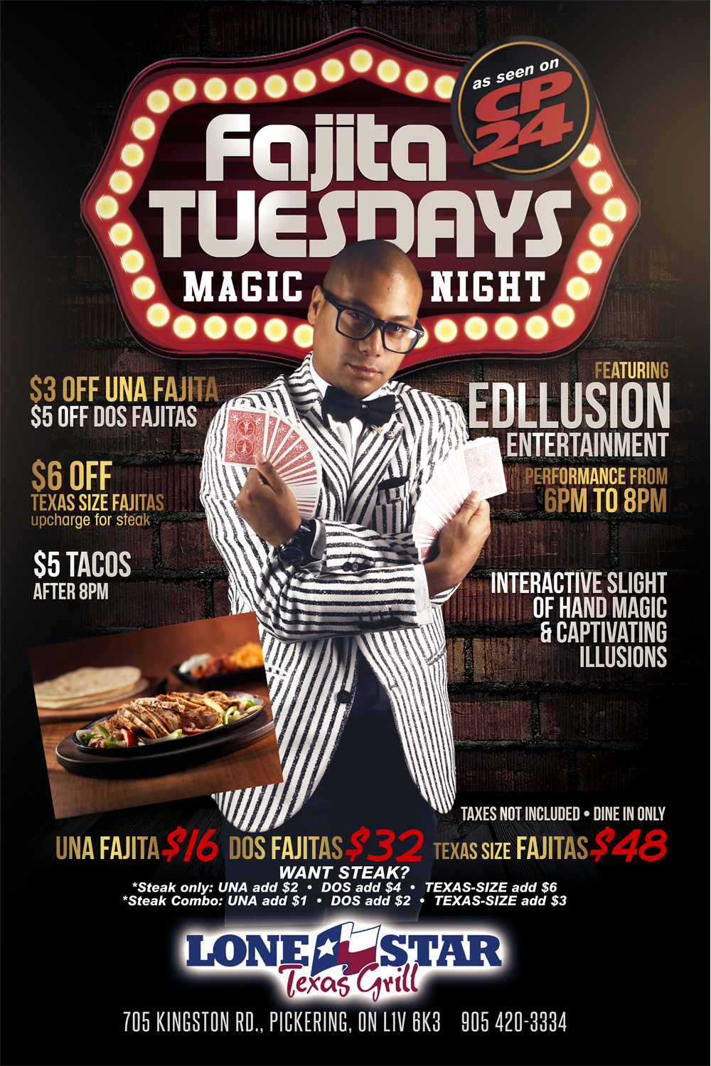 fajita tuesday magic night stand up magic show